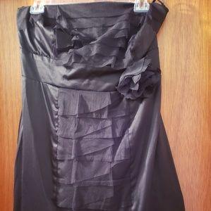Black strapless dresses